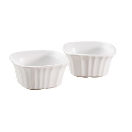 French White® 7-oz Square Ramekin 2-pc Set