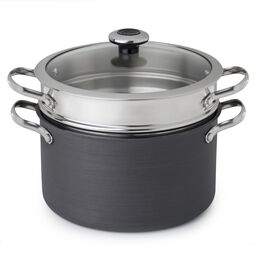 Clean Pan™ 6.5-qt Hard Anodized Aluminum Non-stick Stock Pot w/ Lid & Pasta Insert
