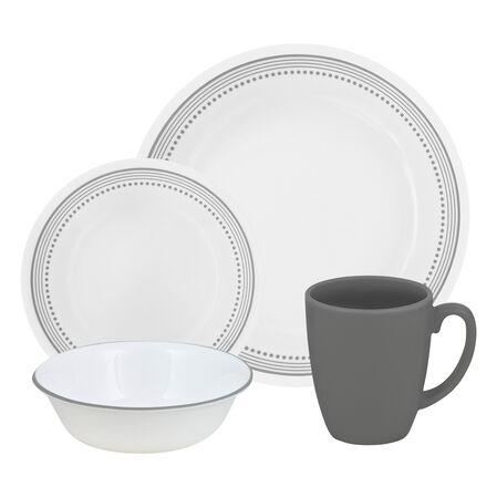 Livingware™ Mystic Gray 16-pc Dinnerware Set