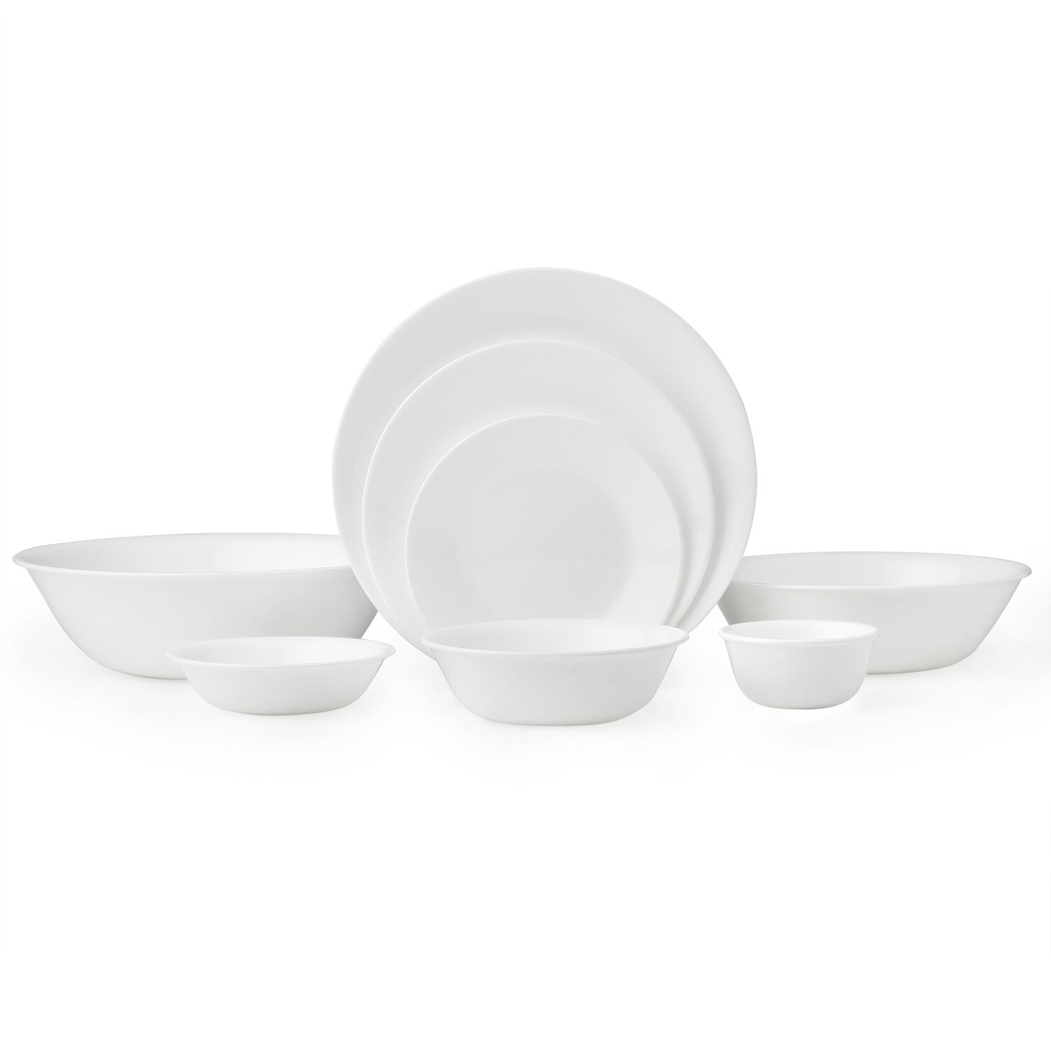 corelle pyrex corningware chicago cutlery official site livingware winter frost white 50 pc dinnerware set