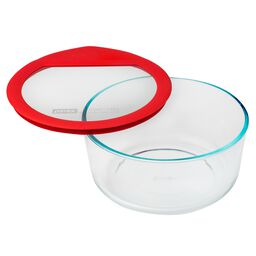 Ultimate 7 Cup Round Storage Dish, Red
