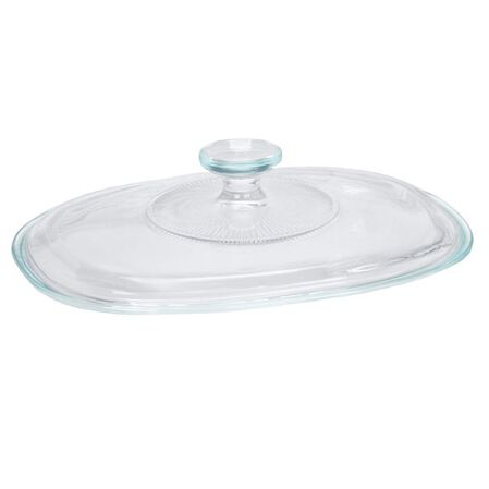 French White® Fluted Oval Glass Lid