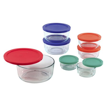 Simply Store® 14-pc Set w/ Multi-Colored Lids
