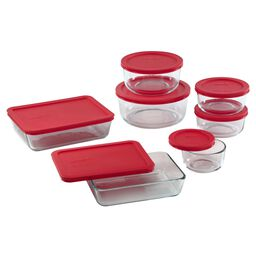 Simply Store® 14-pc Set w/ Red Lids