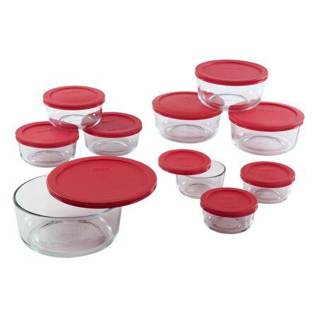 Simply Store® 20-pc Storage Plus w/ Red Lids
