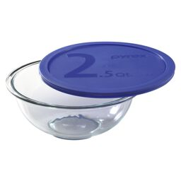 Smart Essentials® 2.5-qt Mixing Bowl w/ Blue Lid