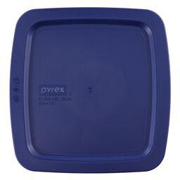 """Easy Grab® Square Plastic Lid 8"""" x 8"""", Blue"""