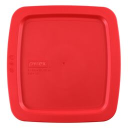 "Easy Grab® Square Plastic Lid 8"" x 8"", Red"
