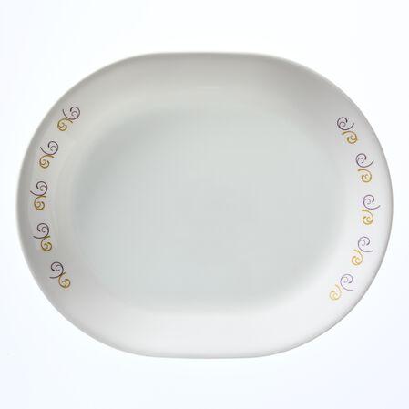 """Livingware™ Violet Dance 12.25"""" Serving Platter"""