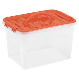 "Smart Store® 14"" x 9"" Home Storage Container w/ Orange Handles"