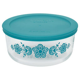 Simply Store® 4 Cup Butterfly Storage Dish w/ Turquoise Lid