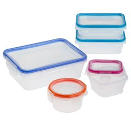 Total Solution™ Plastic Food Storage 10-pc Set