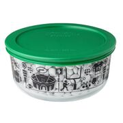 Simply Store® 4-cup Football Fanatic Storage Dish w/ Green Lid