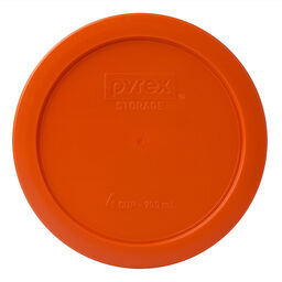 4 Cup Round Plastic Lid, Orange