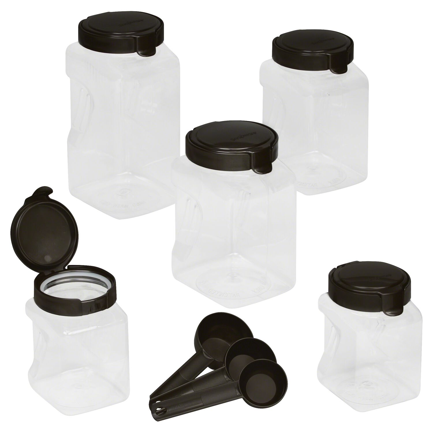 snapware airtight food storage 10 pc square canister set shop images