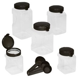 Airtight Food Storage 10-pc Square Canister Set