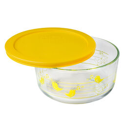 Simply Store® 4 Cup Yellow Birds Storage Dish w/ Lid
