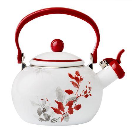 Coordinates® Kyoto Leaves 2-qt Whistling Tea Kettle
