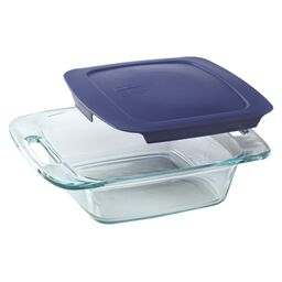 "Easy Grab® 8"" Square Baking Dish w/ Blue Lid"