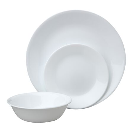 Livingware™ Winter Frost White 12-pc Dinnerware Set
