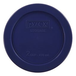 2 Cup Round Blue Plastic Lid Only