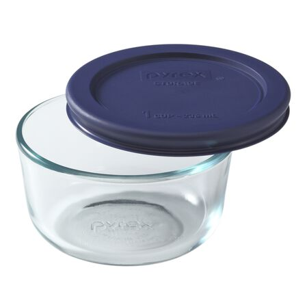 Simply Store® 1 Cup Round Dish w/ Blue Lid