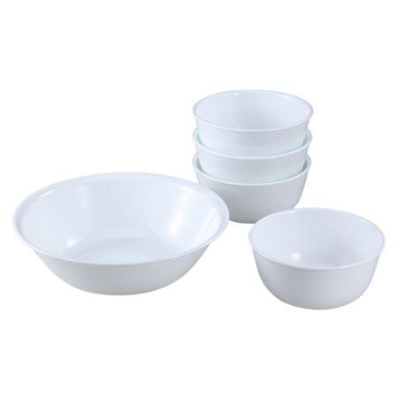 Livingware™ Winter Frost White 5-pc Snack Set