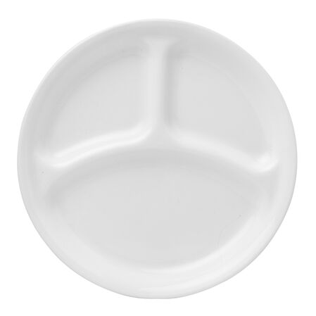 "Livingware™ Winter Frost White 10.25"" Divided Plate"