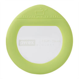Ultimate 1 Cup Round Glass Storage Lid, Green