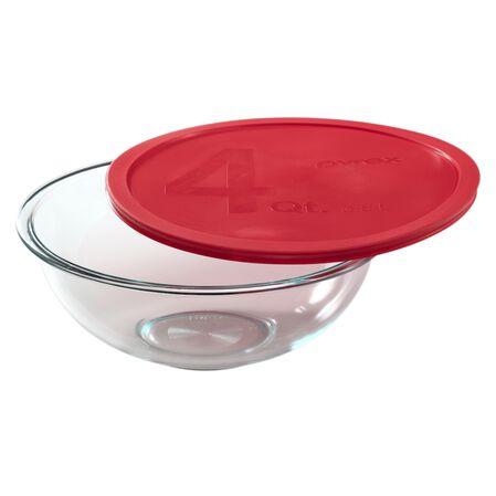 Smart Essentials® 4-qt Mixing Bowl w/ Red Lid