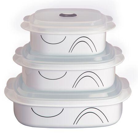 Coordinates® Simple Lines 6-pc Microwave Set