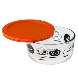 Simply Store® 4 Cup Black Pumpkin Halloween Storage Dish w/ Orange Lid