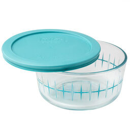 Simply Store® 4 Cup Turquoise Pulsar Storage Dish w/ Lid