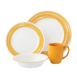 Boutique™ Brushed 16-pc Dinnerware Set, Yellow