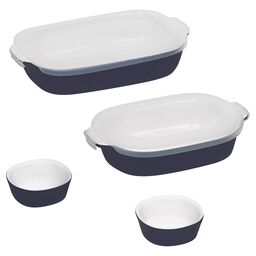 6-pc Midnight Blue Bakeware Set w/ Lids