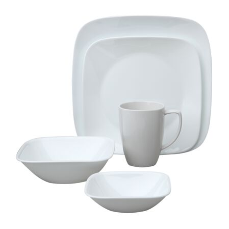 Square™ Pure White 30-pc Dinnerware Set