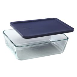 Simply Store® 11 Cup Rectangular Dish w/ Blue Lid