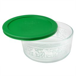Simply Store® 4 Cup Sweater Storage Dish w/ Green Plastic Lid