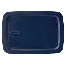 2-qt Oblong Storage Plastic Lid, Blue