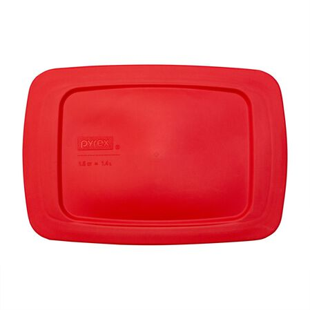 Easy Grab® 1.5-qt Red Rectangle Loaf Pan Plastic Cover
