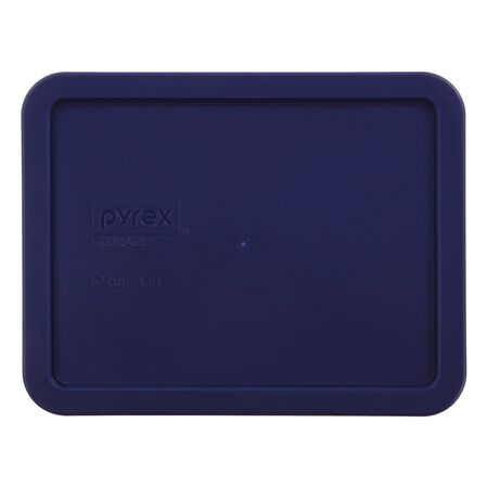 Plastic Lid 6 Cup Rectangular, Blue
