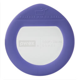 Ultimate 1 Cup Round Glass Storage Lid, Purple