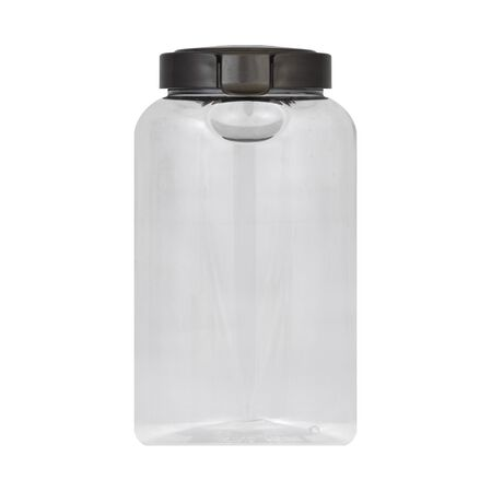 Airtight Food Storage 4.3 Cup Round Plastic Canister w/ Warm Metallic Lid