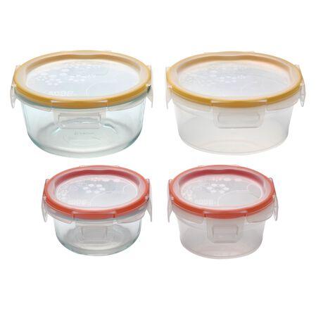 Total Solution™ Pyrex® Glass & Plastic Food Storage 8-pc Round Set