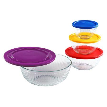 Sculptured 8-pc Mixing Bowl Set