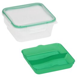 Total Solution™ On the Go 5 Cup Plastic Square w/ Divided Tray