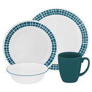 Livingware™ Aqua Tiles 16-pc Dinnerware Set