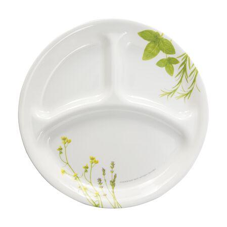 """Livingware™ European Herbs 10.25"""" Divided Plate"""