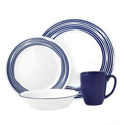 Boutique™ Brushed 16-pc Dinnerware Set, Cobalt Blue