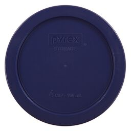 4 Cup Round Plastic Lid, Blue